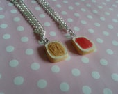 Best Friend Peanut Butter and Jelly Necklaces