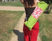 The Irene, Yoga Pilates Mat Bag, Grass & White Leaves