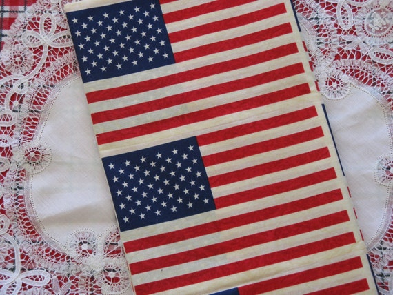 American Flag Fabric Georgetown by Moda Cotton 7/8 Yard Print Patriotic America USA Red white and Blue