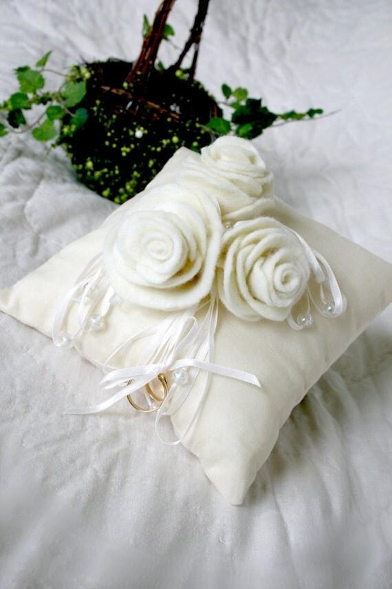 ivory ring bearer pillow