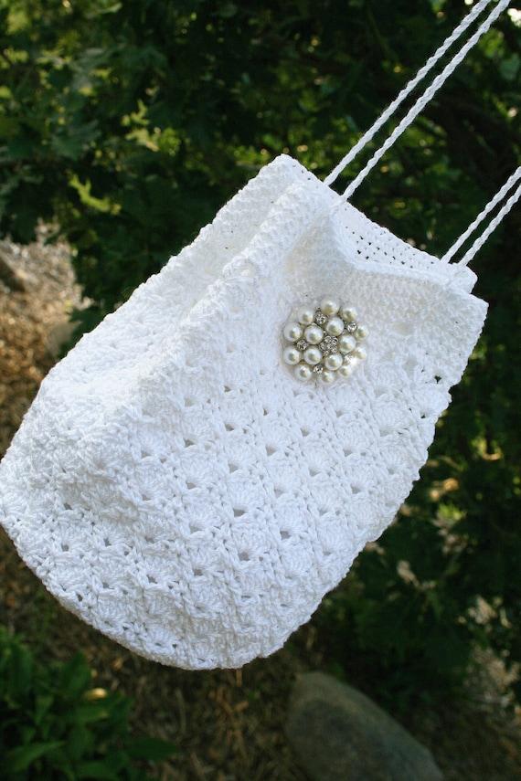 bridal purse bridal bag bridal crochet