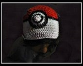 "Pokemon Inspired Beanie ""POKEBEANIE"" large adult size slight slouch"