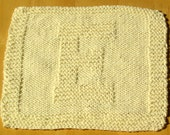 Ivory Letter E Personalized Knit Cotton Cloth