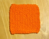 Hot Orange Knit Cotton Cloth