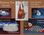 Instant Download Crochet Pattern Bundle- Dog Snuggle pouch, Cacoons and Sling
