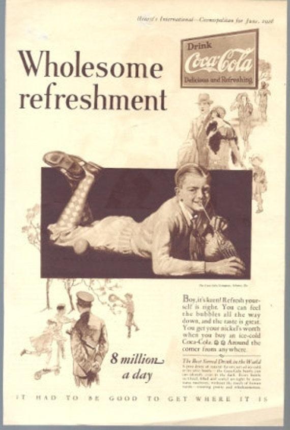 June, 1928 Cosmopolitan Magazine Coca-Cola or Palmolive Soap Ad