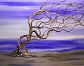 Love, Surreal, Original Painting, Purple Haze, Romantic, Fine art, Fantasy, Coastal,Deadwood Beach Painting