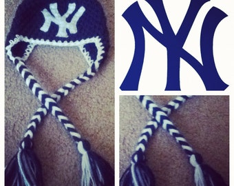 Crochet New York Yankees Beanie