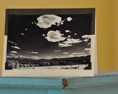 Photo Card with Mt. Sopris - Black and white photography - Colorado - Fine Art - Greeting Card - Blank