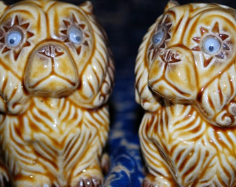 Smoochy Poochy Poo 1970s Vintage Quirky Googley Beady-Eyed Cocker Spaniel Dogs Salt and Pepper Shakers