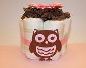 Owl Diaper Cakes- Set of 3