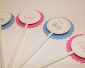 It's a Girl and It's a Boy- Cupcake toppers