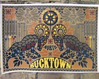 """BUCKTOWN Poster (18"""" x 12"""" digital print)"""