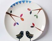 Two Birds Wall Hanging Plate