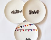 Save 20% - Composition of 3 wall plates - small size