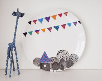 Village Wall Plate II - Smalll Size