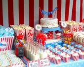 DIY Printable Vintage Circus Party Collection...PERSONALIZED