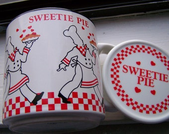 Vintage 60's Sweetie Pie Coffee Cup with Lid Made in Japan by Papel