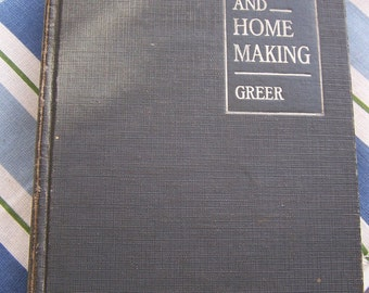"""Vintage 1931 """"FOODS and HOME MAKING"""" By Carlotta C. Greer  Shabby Chic"""