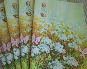 """Vintage Social Notes """"Spring Flowers Design"""" by Sangamon"""