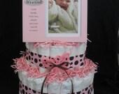 3 Tier Pretty in Pink Diaper Cake