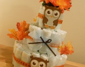 Baby Owl 3 Tier Diaper Cake FREE SHIPPING Limited Time Only