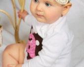 Mini polka dots and sugar headband, tea party, birthday, shabby chic