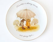Holly Hobbie Friendship Plate Wall Hanging Vintage Custom Edition Four Season Porcelain Gift for her