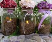 Rustic Wedding  Personalized Wedding Mason Jar Candle Holders Set of Twelve