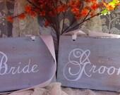 Rustic Wedding Signs Bride and Groom