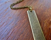 The Simple Brass Bar Necklace