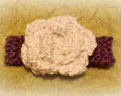 RESERVED ITEM -- Girls' Vintage Rose Headband