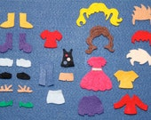 Felt Board Activity Kit Play Set - Dress Up Add On Pack, 26 pieces EcoFi