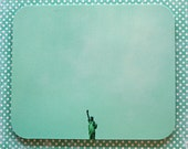 Mousepad Turquoise Statue of Liberty - Hot Pad - Kitchen Trivet - FREE shipping