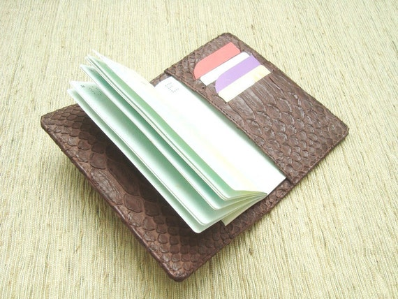 Leather Passport Cover / Holder. Brown Leather Passport Case