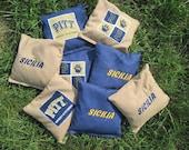 Personalized Pitt Panther Cornhole Bags-Set of 8