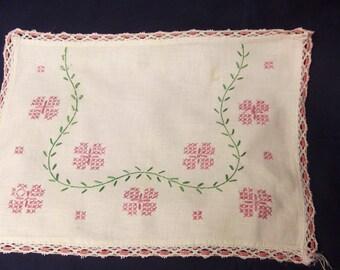 Embroideried Dresser Scarves