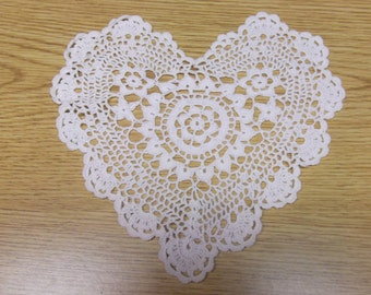 Heart Shapped Vintage Doily