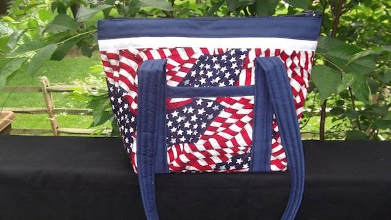 Handmade Patriotic Quilted Purse