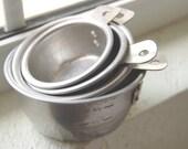 Vintage Aluminum Measuring Cup Set of 5