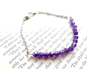 Customizable bracelet for bridesmaids or special occassion-amethyst beaded