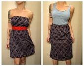 Wear it Two Ways Dress/Skirt Vintage Print