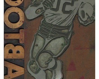 Woodtype Football Poster