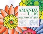 Watercolor Flowers Wedding Invitations : InkOVERpaper Invitations
