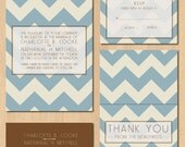 Printable Chevron Wedding Invitations : InkOVERpaper Invitations