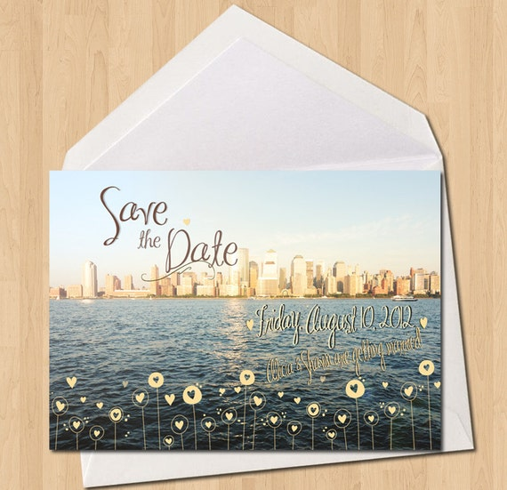 Manhattan Wedding Invitation Save the Date : InkOVERpaper Invitations