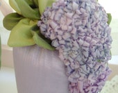Lilac in Silk RIbbon Decorator 'Tassel' Sachet - FREE SHIPPING
