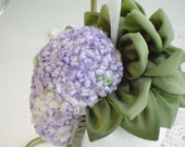 Lilac in Silk RIbbon Decorator 'Tassel' Sachet