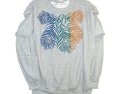 KT&Paul Peacock Feather Hearts and stars Sweatshirt Jumper crew neck