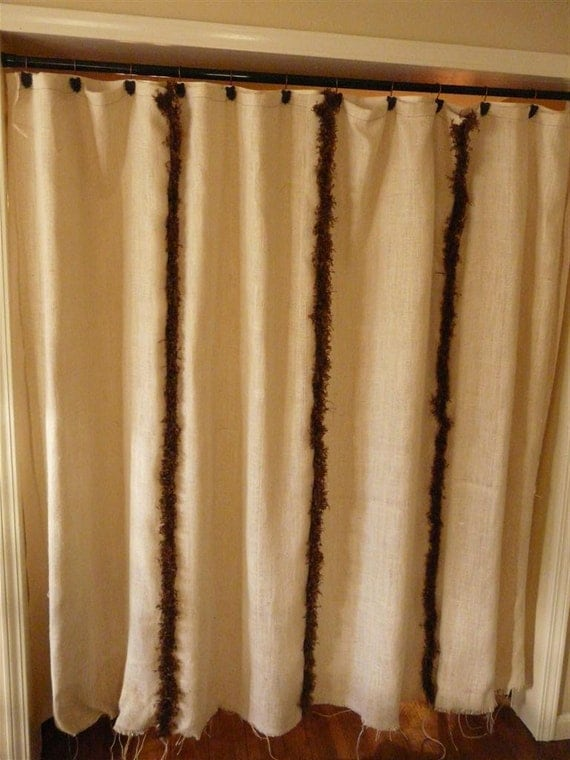 Burlap ruffled curtains
